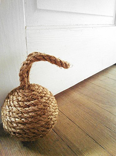 Small Sisal Rope Doorstop, Decorative Rope Ball, Natural or Dyed Sisal Door Stopper, Assorted Colors