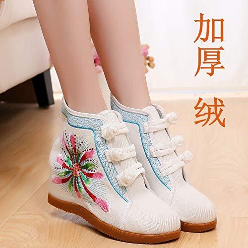 HOESCZS Stiefel Martin Starke Baumwolle Baumwolle Baumwolle Schuhe 7 cm Kurze Stiefel Heißes Bohren National Style Fashion Casual Sportschuhe 96d287