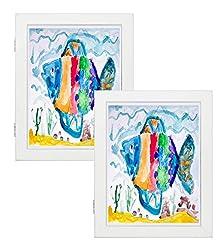 8.5x11 White Art Frames - Set of 2 - Wal...
