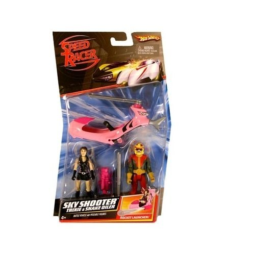 Speed Racer Sky Shooter With Trixie X & Snake Oiler Action Figure 2-Pack -
