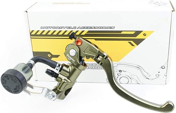 Cnc Hydraulische Bremse Motorrad Verstellbares Klappbares Rennrad Rcs 17 5 Hauptbremszylinder Hebel 7 8 Zoll 22 Mm Für 150 To 600cc Grün Rechts Auto