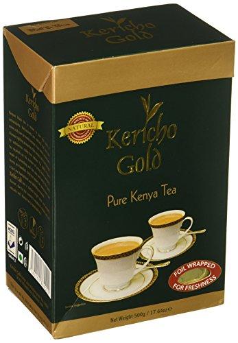 Gold Pure Tea - Pure Kenya Black Tea, Kericho Gold Premium Loose Tea,  17.64 Ounce - 500 Gram.