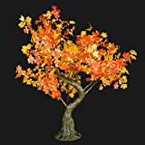 Bright Baum LED Artificial Tree, 4.8 Feet, Amber Maple