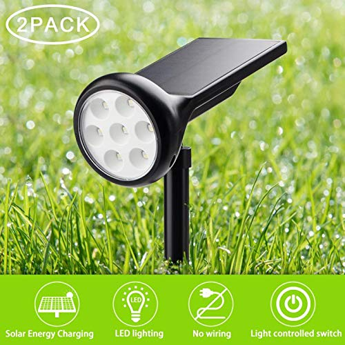 Solar Spotlights Outdoor Color Changing Multiple Color Mode Solar Garden Lights for Landscaping, Pathway, Yard, Shrubs and Lawn