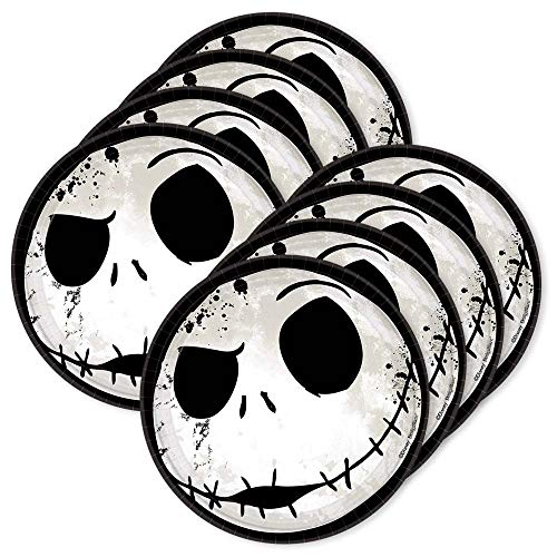 BirthdayExpress Nightmare Before Christmas 7 Round Dessert Plates (24)]()
