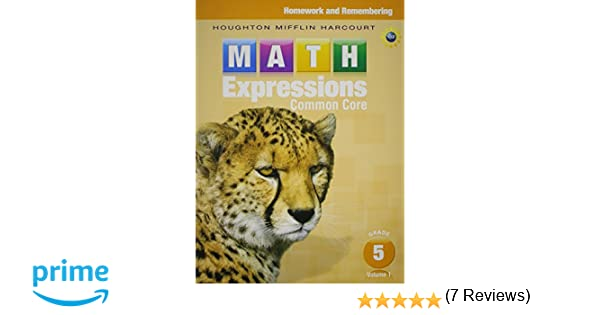 Math Expressions: Homework & Remembering, Volume 1 Grade 5 ...