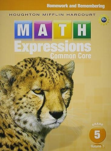 math worksheet : math expressions homework  remembering volume 1 grade 5  : Houghton Mifflin Math Worksheets