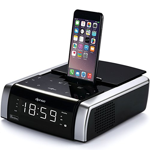 DPNAO Apple iPhone Speaker, iPhone Radio Docking Station, Lightning Connector Charge and Play for iPhone [Apple MFi Certified]