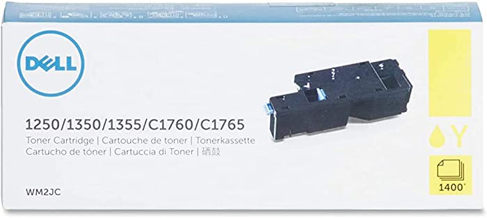 Dell WM2JC Yellow Toner Cartridge 1250c/1350cnw/1355cn/1355cnw/C1760nw/C1765nf/C1765nfw Color Printers
