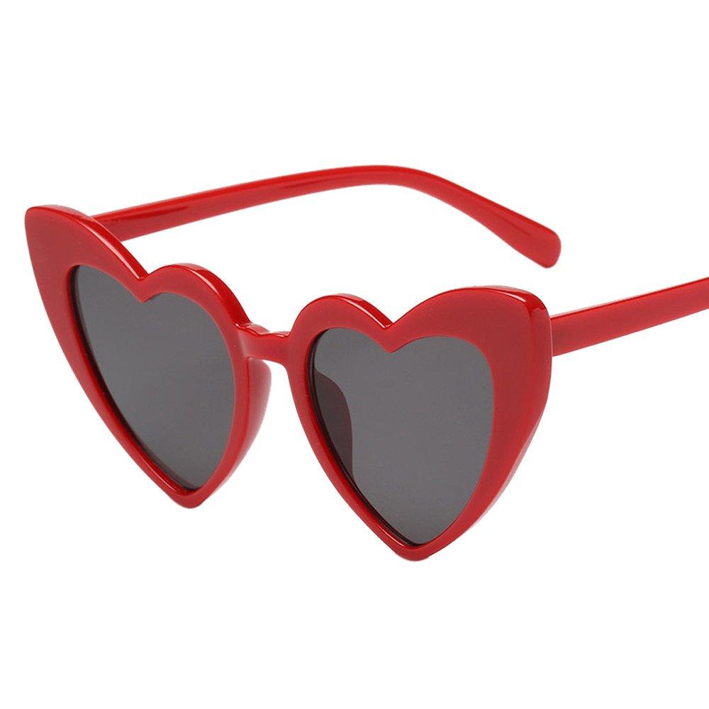 Amazon.com: Big Frame Sunglasses,Hongxin Heart-Shaped Women ...