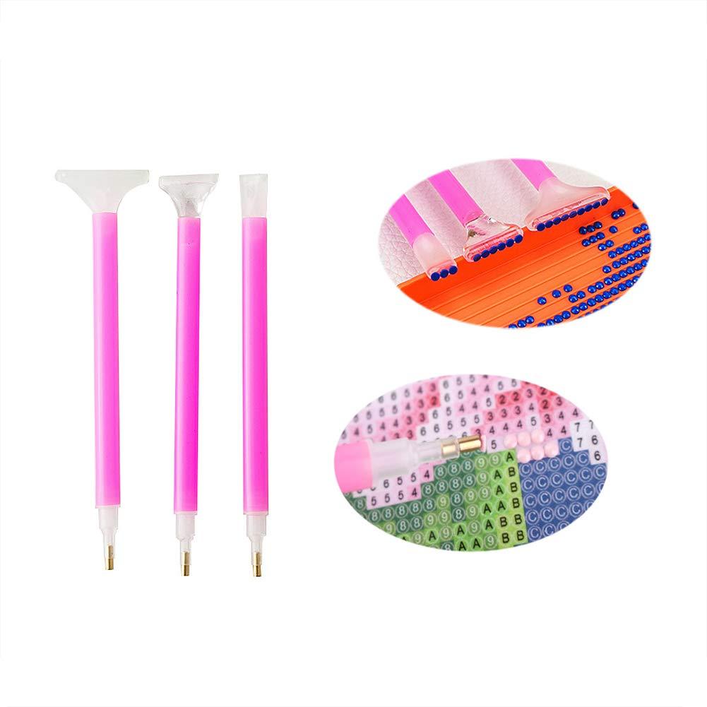 Academyus 10Pcs/Set Diamond Painting DIY Tool Kits Dual-Head Pens Plastic Tray Glue Mud by Academyus (Image #2)