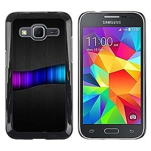 Shell-Star Arte & diseño plástico duro Fundas Cover Cubre Hard Case Cover para Samsung Galaxy Core Prime / SM-G360 ( Rainbow Swirl Pattern )