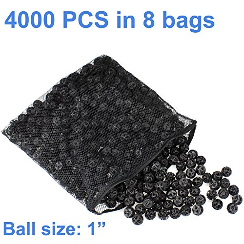 AQUANEAT 1'' Bio Balls Aquarium Pond Filter Media Free Media Bag New Design (4000pcs) by Aquaneat