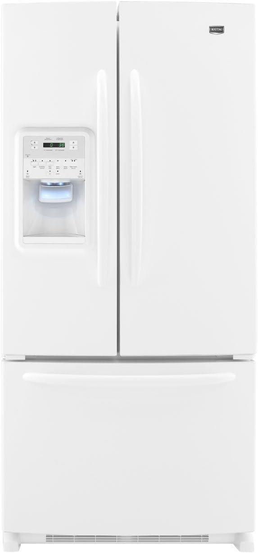 Amazon Com Maytag Mfi2269vew Ice2o 22 0 Cu Ft White French Door Refrigerator Energy Star Appliances