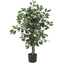 Nearly Natural 5298 Ficus Silk Tree, 3-Feet, Green