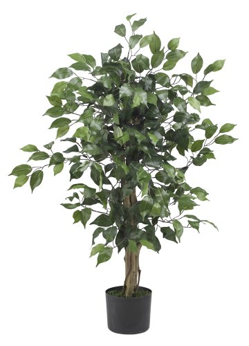 Nearly Natural 5298 Ficus Silk Tree, 3-Feet, Green (Silk Tree)