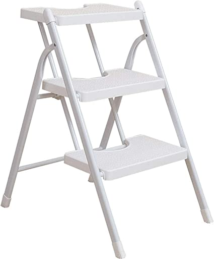 Zichen Escalera de tijera Escalera de mano plegable Escalera de pedal Escalera en espiga Taburete Reposapiés Asiento pequeño Blanco plegable 3 peldaños, taburete, a: Amazon.es: Instrumentos musicales