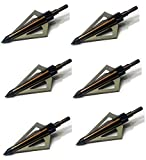 GPP 125 Grain Fixed Three Blade Broadheads, (6 Per Pack), Compatible with Crossbow and Compound Bow