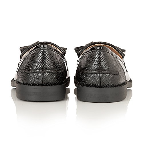 Dolcis - Mocasines para mujer negro (Patent Black)