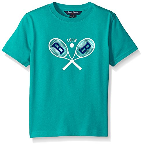 Price comparison product image Brooks Brothers Big Boys' Tennis Screen Print Tee,  Porcelain Green,  X-Large