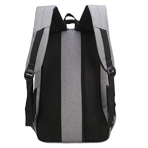 Travel Laptop Backpack, Business Laptop Backpacks USB Charging Port Headphone Interface,Water Resistant College School Computer Bag Women & Men Fits 15.6 inch Laptop Notebook(Gray) by MEWAY (Image #2)