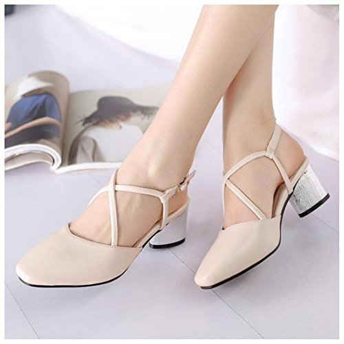 Sandals Fashion apricot Slingback Toe Women's Closed Shoes TAOFFEN xqnwvZS
