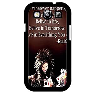 Confient Custom Quotes Tokio Hotel Phone Case Cover for Samsung Galaxy S3 I9300