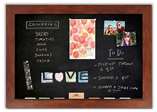 Magnetic Chalkboard with Honey Frame by The Cork Board Shop
