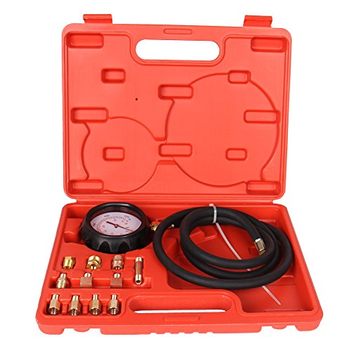 High Performance 12 Pieces Automatic Transmission Engine Oil Pressure Tester Gauge TU-11A Diagnostic Test Kit 0-500psi(Automatic Transmission Pressure Tester) by B4B BANG 4 BUCK (Image #2)