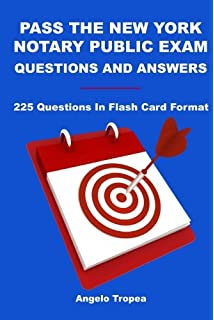 Pass the new york notary public exam second edition angelo tropea pass the new york notary public exam questions and answers 225 questions in flash card fandeluxe Gallery