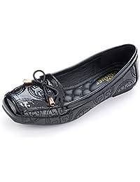 Womens Square Toe Bowknot Ballet Comfort Slip on Flats Shoes