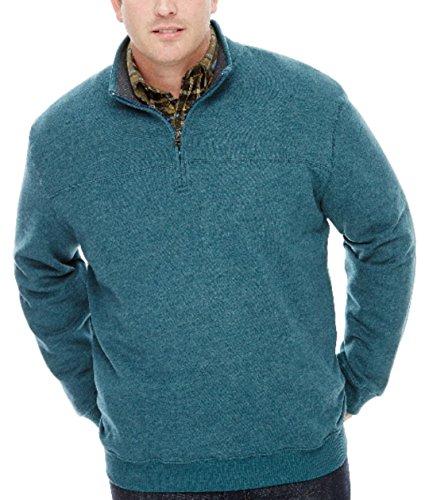 (Arrow Men's Big-Tall Long Sleeve Sueded Fleece 1/4 Zip Pullover (4XL Big, Denim Teal Heather))