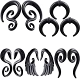 IPINK-5 Pairs Acrylic Spiral Snail Taper Plugs Tunnel Ear Stretcher Expander Kit Plugs 14-00 Gauges