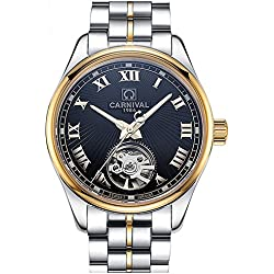 Carnival watch automatic mechanical watch luminous Mens Watch luxury men watch new style hollow