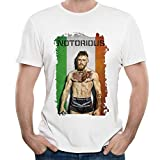 img - for Mens The Notorious Conor McGregor Poster O Neck Short Sleeve T Shirt Tee book / textbook / text book