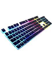 HAVIT Pudding Keycaps Backlit PBT Keycap Translucent Key caps for Custom RGB Mechanical Keyboard US Layout(Black)