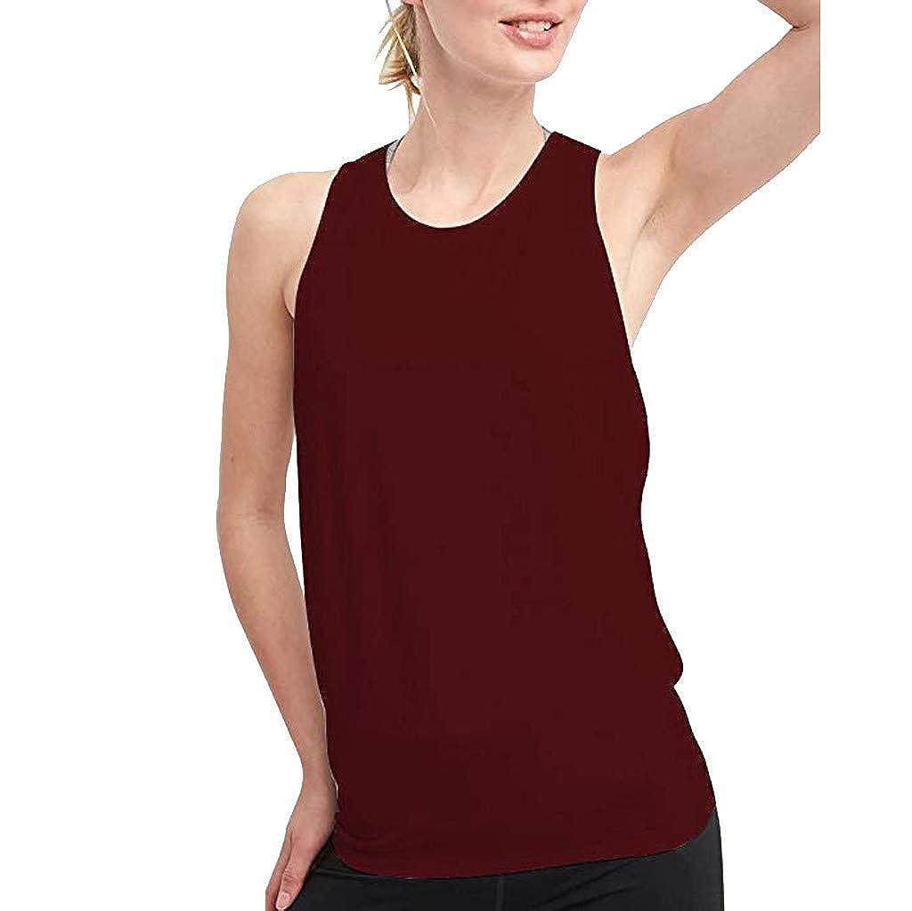 Sameno Women O-Neck Lace Shoulder Straps Back Hollow Out Vest Blouse T-Shirt Tops