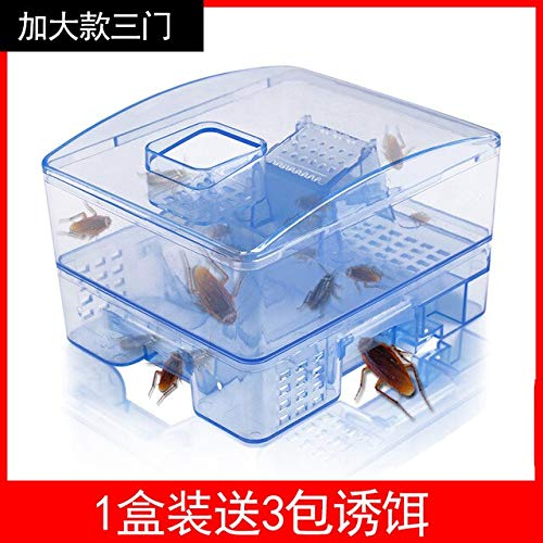 Cockroach Trap Fifth Upgrade Safe Efficient Anti Cockroaches Killer Plus Large Repeller No Pollute for Home Office Kitchen   3 Doors 3 Bait for