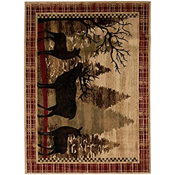 Amazon Com Mayberry Rugs Ad8132 2x8 Amer Dest Red River
