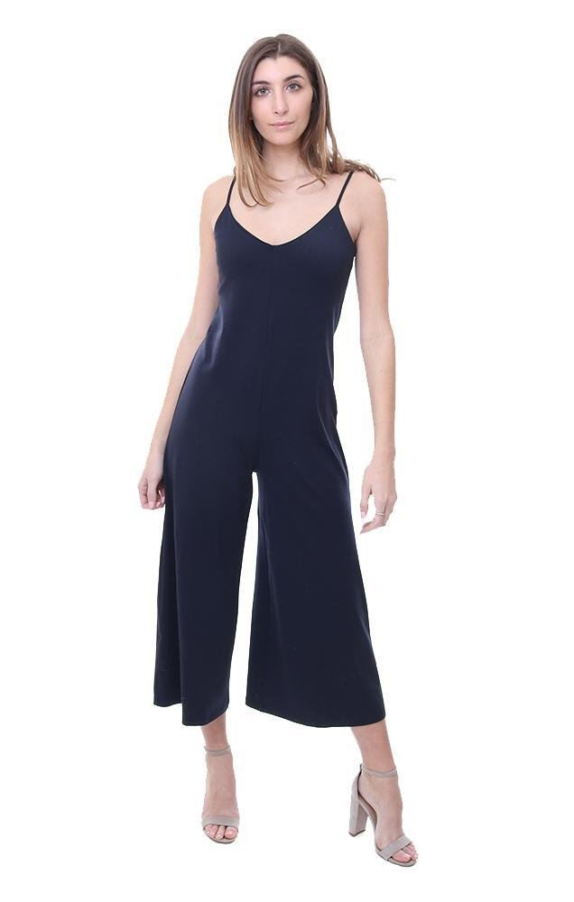 Susana Monaco Jumpsuits V Neck Cropped Black Jumper - Black - L