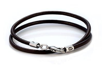 Bico 4mm Black Leather Necklace Long (CL6 Black) Tribal Surf Jewellery LumHmZrt