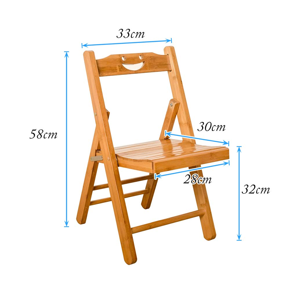 soges Bamboo Folding Chair Mazar Stool Portable Outdoor Stool Home Back Chair Childrens Chair Bathroom chair,Kids Study Folding Chairs outdoor chair,ZDY-Z-XL-HSJ fishing chair study chair