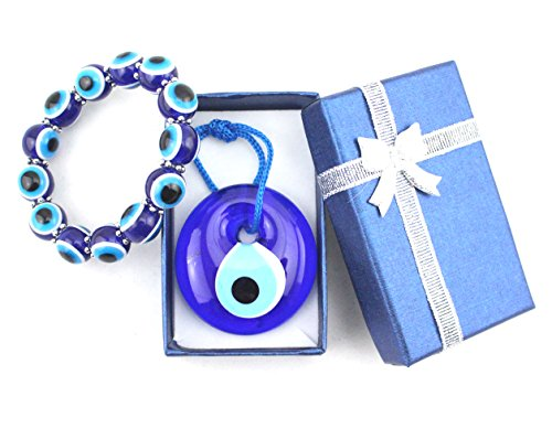 4cm Glass Evil Eye Charm Amulet Greek Wall Hanging Protection