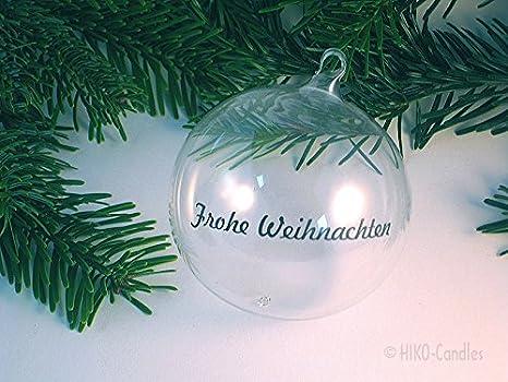 Farbe w/ählbar personalisierte Spiegel Ornament-Weihnachtskugel mit Sternen und Namen