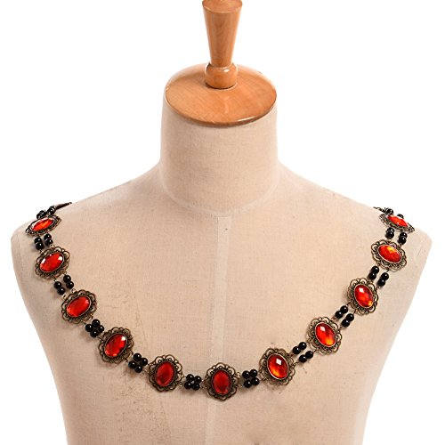 GRACEART Tudors Chain of Office Livery Collar Necklace (Red (Livery Collar Costumes)