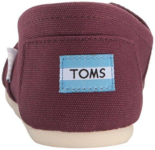 Toms Mens Classico In Tela Slip-on Mogano Rosso