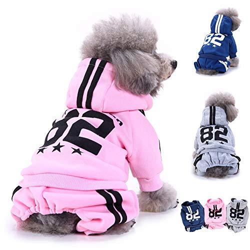 NO.82 Dog Hooed Sweatshirt Hoodie Coat for Small Dog Cat Sport Ski Jumpsuit Set ()