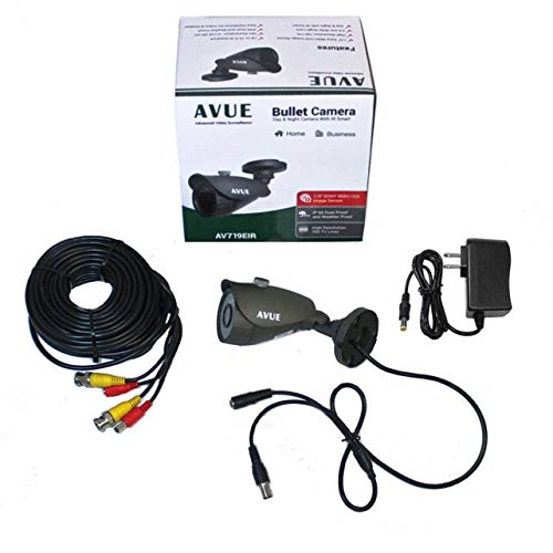 AVUE 700TVL Sony 960H CCD mini bullet camera KIT, IP66 Weather proof, 3.6mm, IR Smart, metal case, DC12V. ()