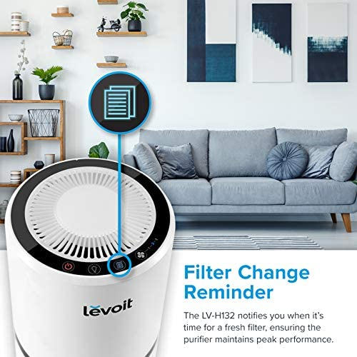 LEVOIT H13 True HEPA Filter Air Purifiers for Allergies and Pets, Smokers, Smoke, Dust, Mold, and Pollen, Cleaner for Bedroom, Large Room with Optional Night Light, LV-H132 51KyW8cwLxL