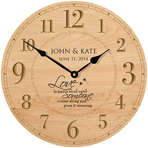 Personalized Wedding Anniversary Gifts Modern Decorative Wall Clocks Housewarming Gifts for Couple 12